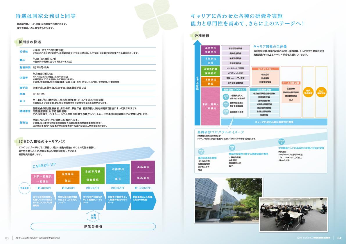 独立行政法人 地域医療機能推進機構(JCHO)事務職員募集案内パンフレット